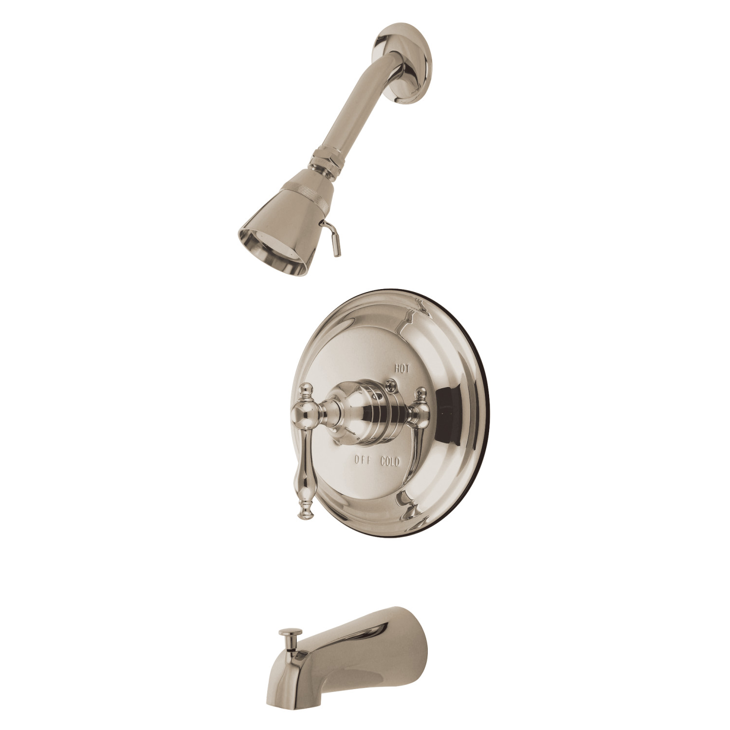 Elements Of Design Eb2638nl Tub And Shower Faucet Brushed Nickel
