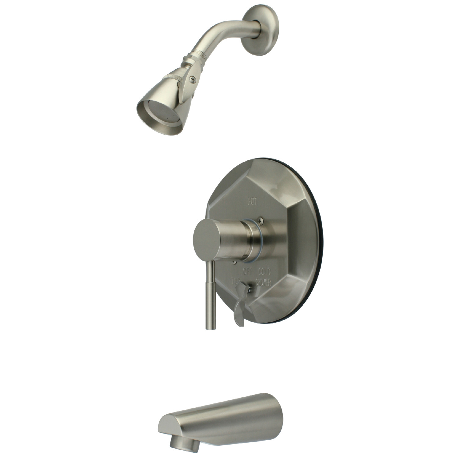 Elements Of Design Eb46380dl Tub And Shower Faucet With Diverter Brushed Nickel