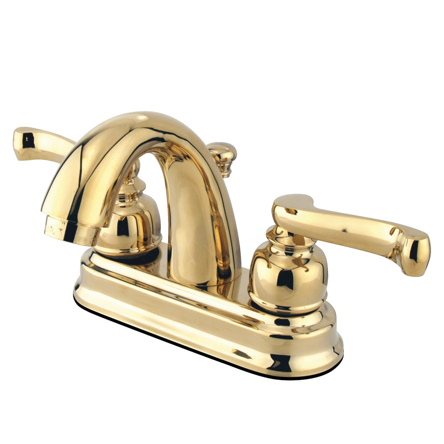 Elements Of Design Eb5612fl 4 Inch Centerset Lavatory Faucet With Retail Pop Up Polished Brass Elements Of Design
