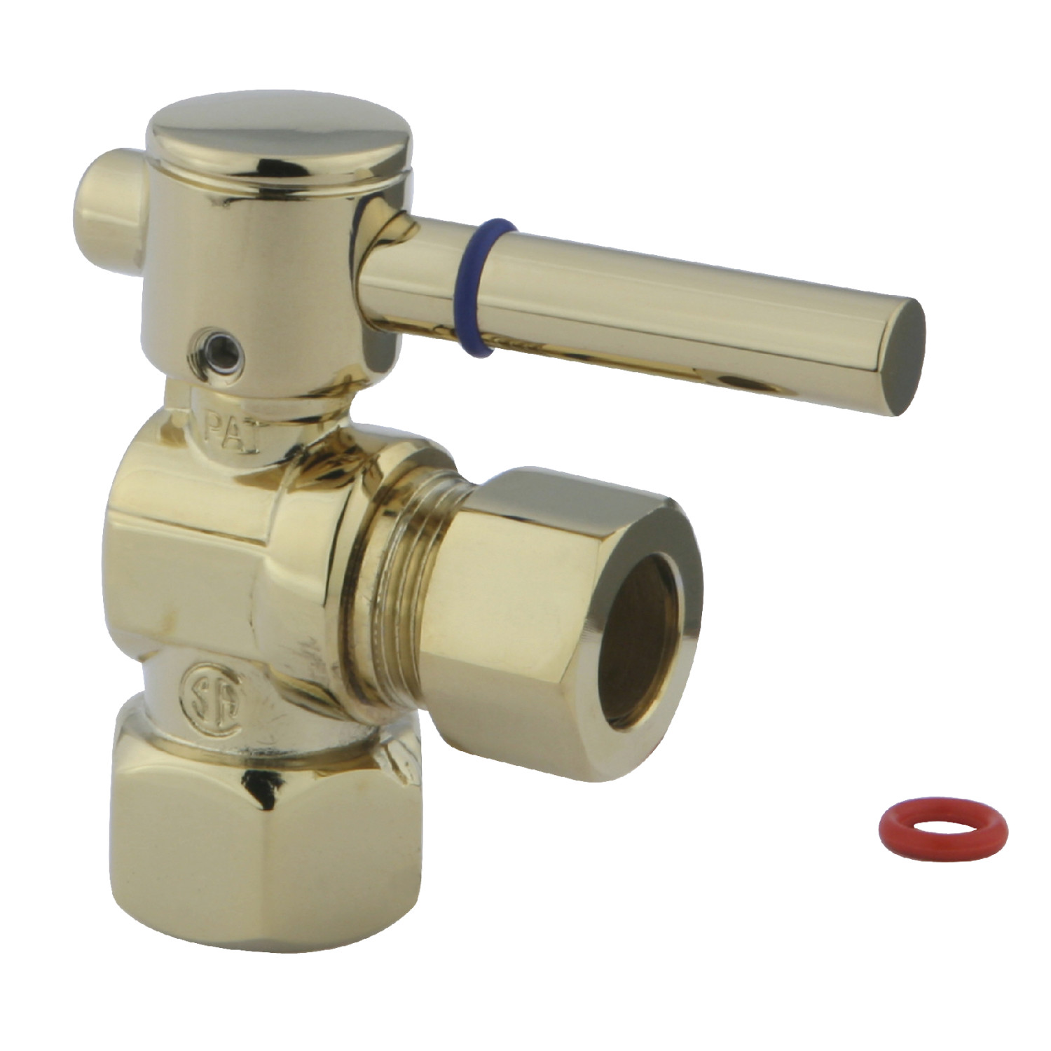 Elements Of Design Ecc44402dl 1 2 Inch Fip X 1 2 Inch Od Comp Angle Stop Valve Polished Brass Elements Of Design