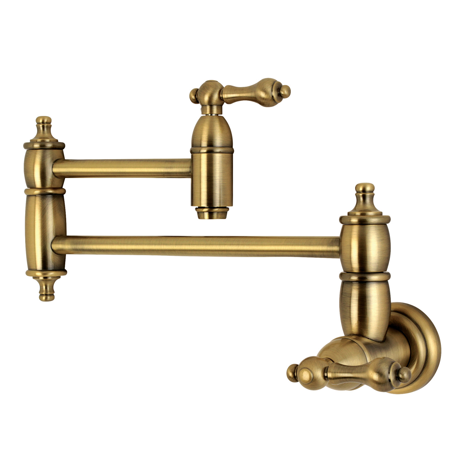 Elements of Design ES3103AL Wall Mount Pot Filler Kitchen Faucet, Vintage  Brass