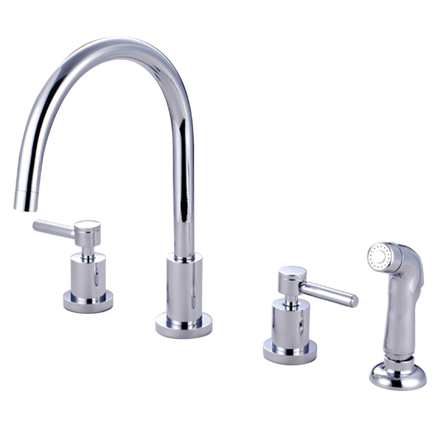 Elements Of Design Es8721dl 8 Inch Widespread Kitchen Faucet With Plastic Sprayer Polished Chrome Elements Of Design