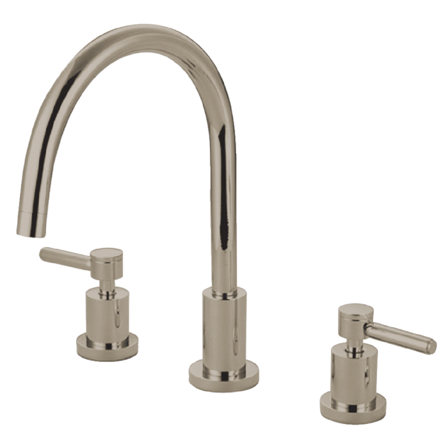 Elements of Design ES8726DLLS 8-Inch Widespread Kitchen Faucet, Polished  Nickel